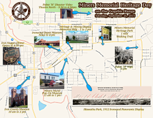 Miners Memorial Heritage Day Map