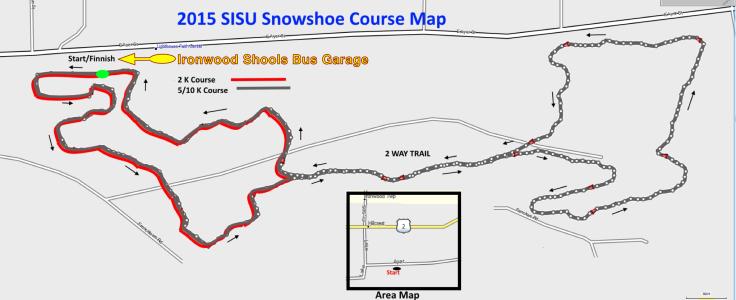 2015 SISU Snowshoe Map