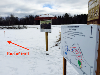 This is where the snowshoe trail ends.